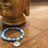 Bransoletka mala – niebieski agat, drzewo życia